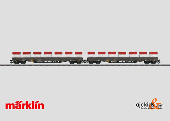 Marklin 47029 - Low Side Car Set AAE Cargo in H0 Scale