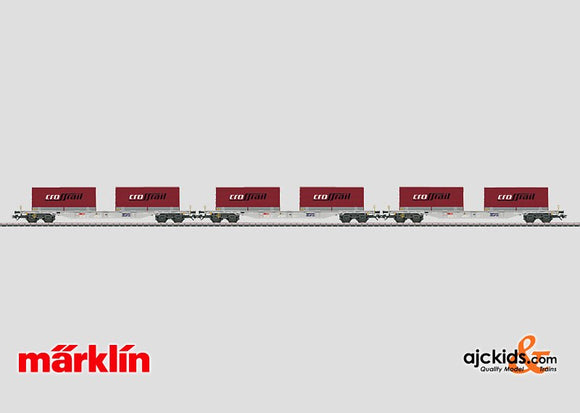 Marklin 47070 - Container Car Set with Convertible Truck Transport Units in H0 Scale