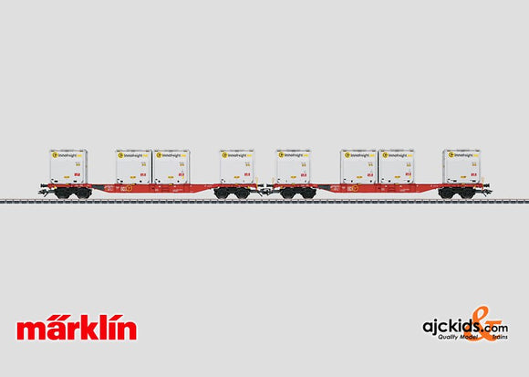 Marklin 47076 - Container Flat Car Set with WoodTainer XS Containers
