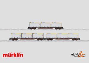 Marklin 47079 - Container Flat Car Set with WoodTainer XXL Containers