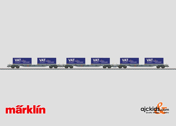 Marklin 47084 - Container Car Set VAT logistics in H0 Scale