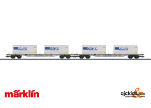 Marklin 47096 - Cargo Domino SBB Type Sgnss Container Flat Cars