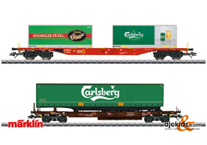 Marklin 47109 - Carlsberg and Tuborg Beer KLV Freight Car Set