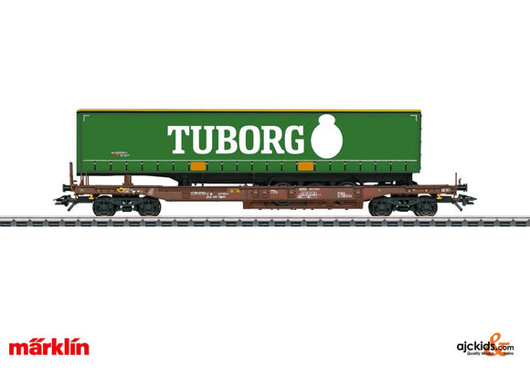 Marklin 47113 - Tuborg Beer Deep Well Flat Car in H0 Scale
