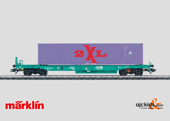 Marklin 47448 - Deep Well Flat Car with Container