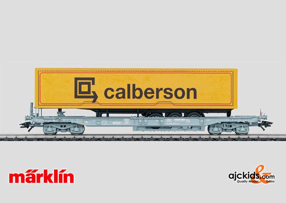 Marklin 47450 - Deep Well Flat Car with Truck Trailer. in H0 Scale
