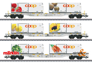 Marklin 47461 - Coop Container Flat Car Set