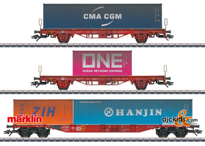 Marklin 47580 - Type Lgs 580 Container Transport Car Set