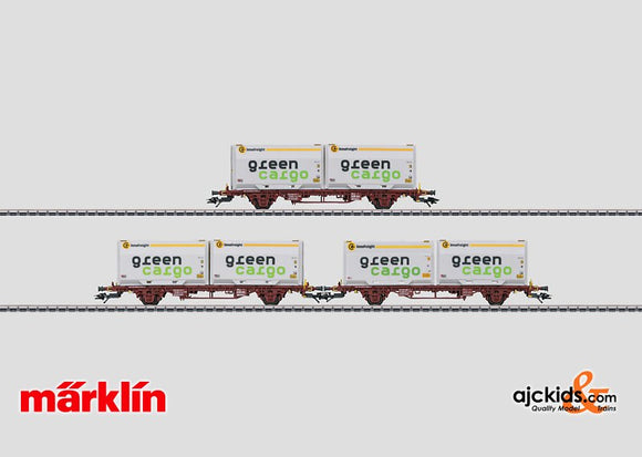 Marklin 47723 - Container Transport Car Set in H0 Scale