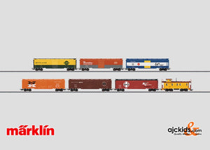 Marklin 47760 - Set with 6 Tin-Plate Freight Cars and caboose