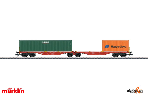 Marklin 47801 - Capital Hapag-Lloyd Double Container Transport Car in H0 Scale