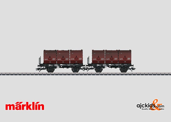 Marklin 48273 - Set with 2 Container Cars in H0 Scale