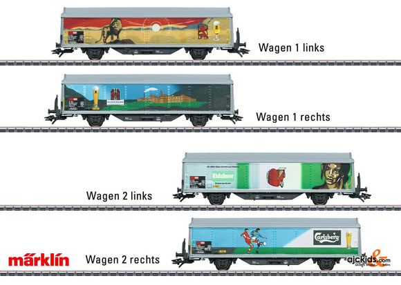 Marklin 48342 - Sliding Wall Boxcar Set