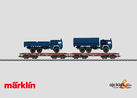 Marklin 48718 - THW 2-Flatcars Set with Load of 2 Vehicles