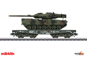 Marklin 48793 - Heavy-Duty Flat Car with German Army Leopard Tank