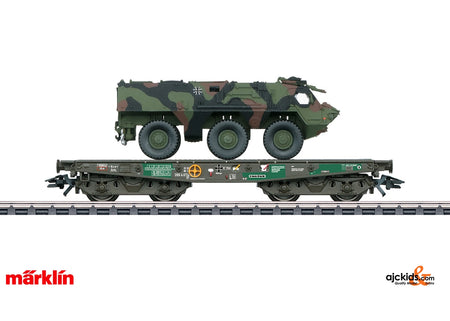 Marklin 48794 - Heavy-Duty Flat Car with German Army Fuchs