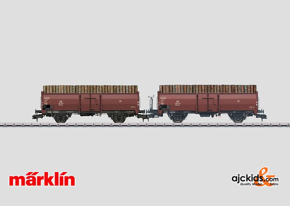 Marklin 58228 - Loading Wood Freight Car Set