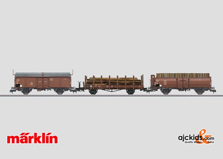 Marklin 58229 - Loading Wood Freight Car Set