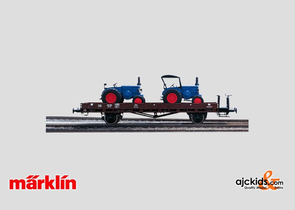 Marklin 58494 - Flat Car with Lanz Bulldogs