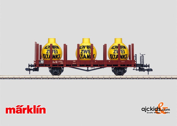 Marklin 58497 - Stake Car with oil tanks