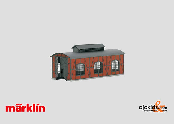 Marklin 72898 - Building Kit of a Locomotive Shed in H0 Scale