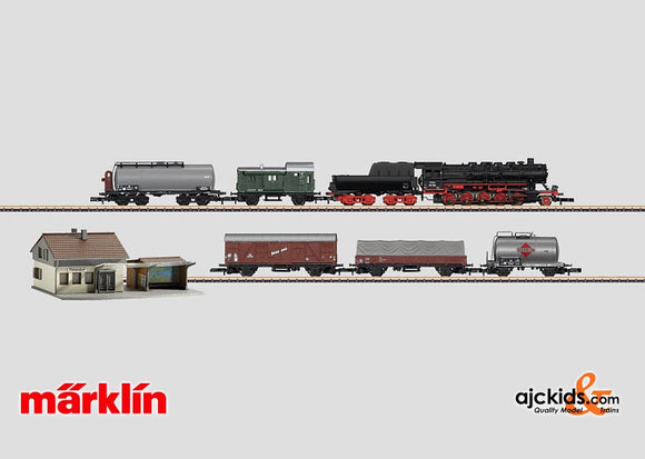 Marklin 81864 - Freight Train with a Large Track Layout, Station Kit