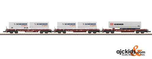 Marklin 82288 - Deep Well Flat Car Set