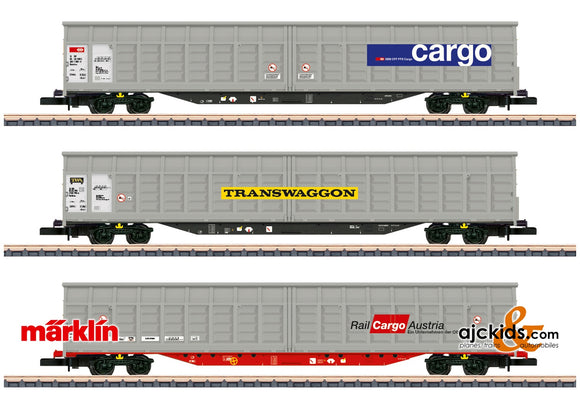 Marklin 82418 - Sliding Wall Boxcar Set