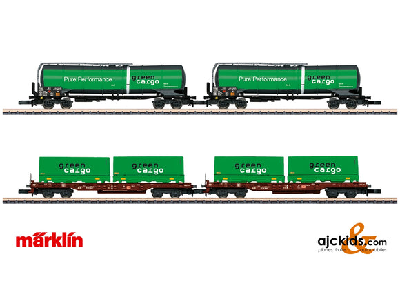 Marklin 82533 - Green Cargo Freight Car Set