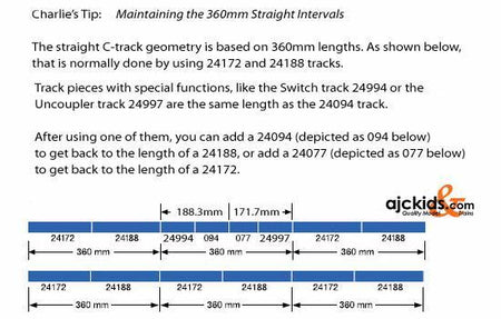 Marklin 24188 - Straight Track Piece