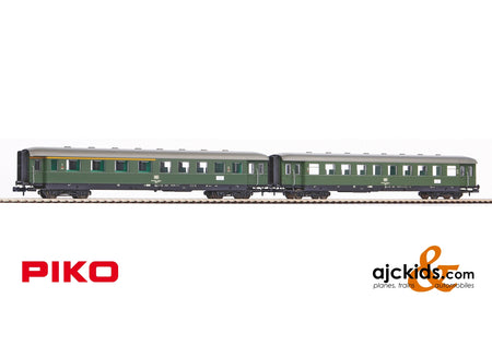 Piko 40621 - 2-Car Set Skirted Pass Cars 2nd & 1st/2nd Cl. DB IV