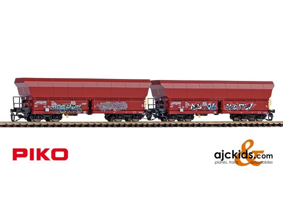 Piko 47031 - TT 2-Unit Set Falns Hopper Car OnRail VI w/Graffiti