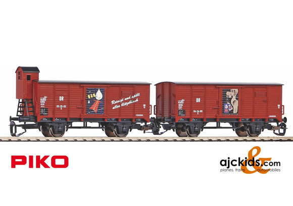 Piko 47032 - TT-Covered 2 piece Set Freight Car G02 FIT DR III o. Bhs