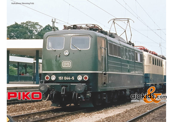 Piko 51317 - BR 151 Electric Locomotive DB IV Green Sound (AC 3-Rail)