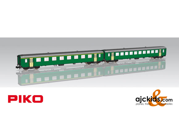 Piko 94392 - 2-Car Set  EW I Pass Cars SBB IV Green, New Script