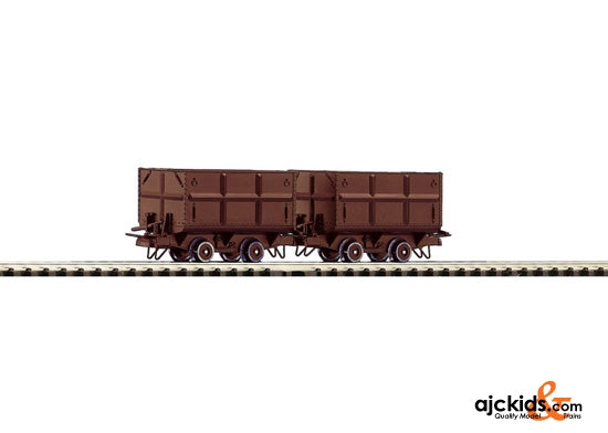 Roco 34499 2 piece set: side tipping wagons