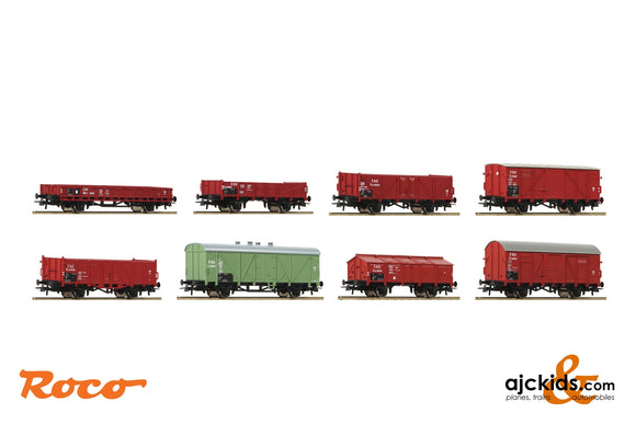 Roco 44001 - 8 piece set: Goods wagons