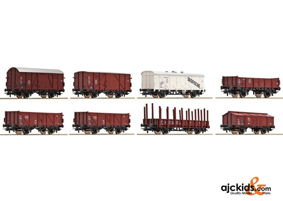 Roco 44002 8-piece set freight cars