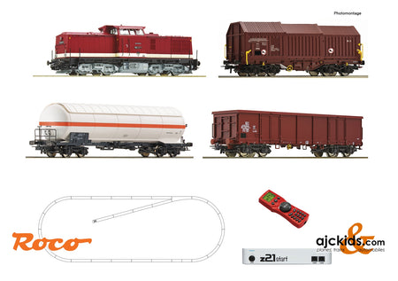 Roco 51321 - z21 start digital set: Diesel locomotive class 114 with goods train