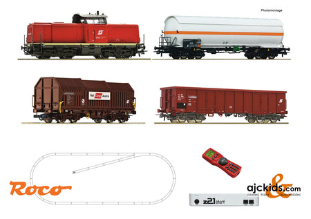 Roco 51322 - z21 start digital set: Diesel locomotive class 2048 with goods train