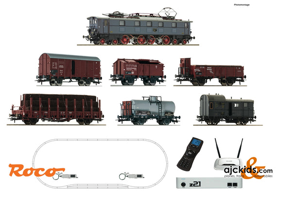 Roco 51323 - z21 digital set: Electric locomotive E 52 with goods train