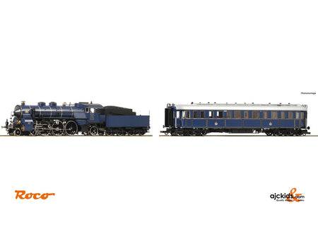 "Roco 61473 2 piece set: Steam locomotive S 3/6 and ""Prinzregenten"" wagon"