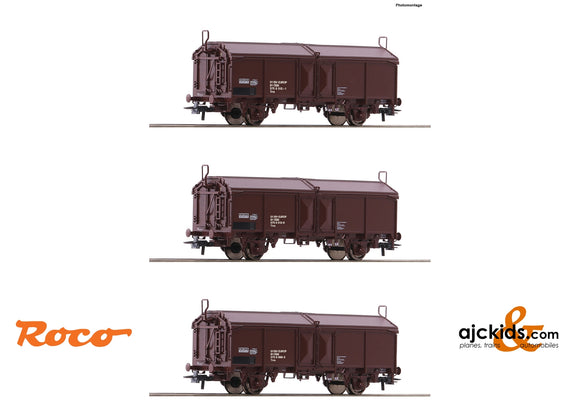 Roco 66178 - 3 piece set: Sliding roof wagons