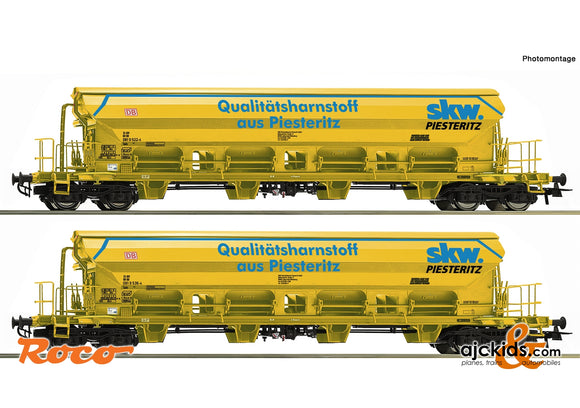 Roco 67142 - 2 piece set: Swing roof wagons