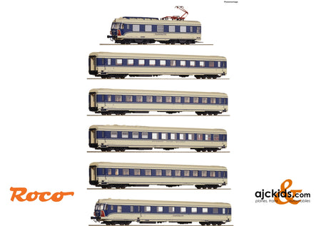"Roco 73057 - 6 piece set: Electrical multiple unit 4010.04 ""Transalpin"""