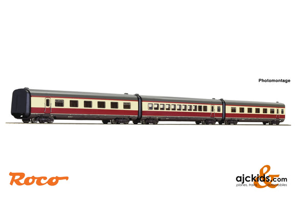 "Roco 74080 - 3 piece set: Additional coaches ""Alpen-See-Express"