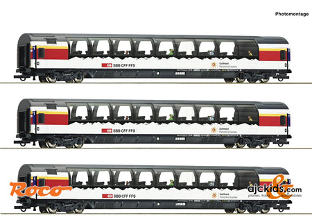 "Roco 74081 - 3 piece set 1: ""Gotthard Panorama Express"""