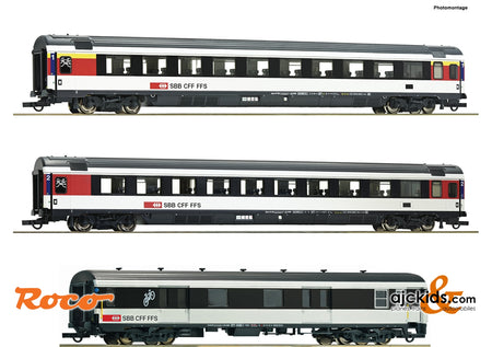 "Roco 74082 - 3 piece set 2: ""Gotthard Panorama Express"""