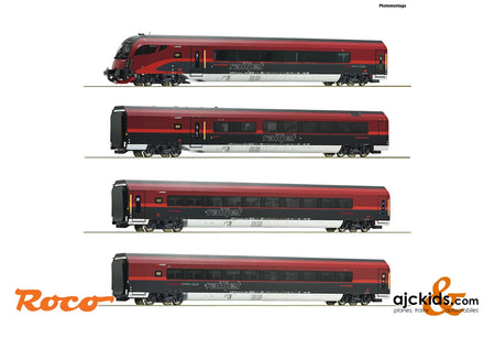 "Roco 74083 - 4 piece set: ""Railjet"""