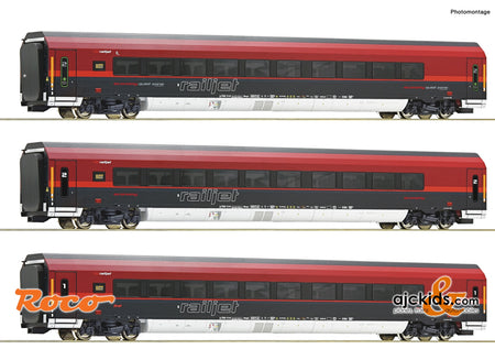 "Roco 74088 - 3 piece set: ""Railjet"""